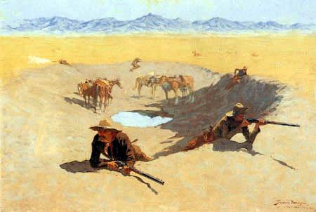 Frederic Remington - Der Kampf um das Wasserloch