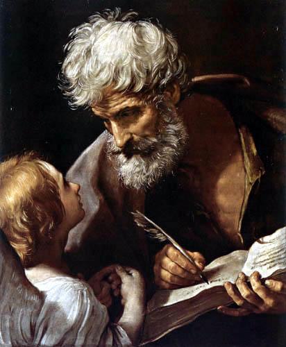 Guido Reni - Der hl. Matthäus mit einem Engel