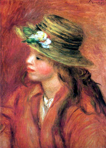 Pierre Auguste Renoir - Young girl with hut
