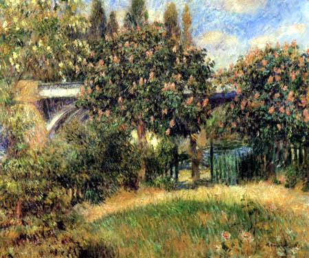 Pierre Auguste Renoir - The railway bridge of Chatou