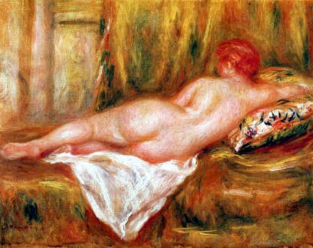 Pierre Auguste Renoir - A Reclining Nude