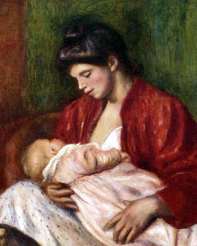 Pierre Auguste Renoir - Junge Mutter