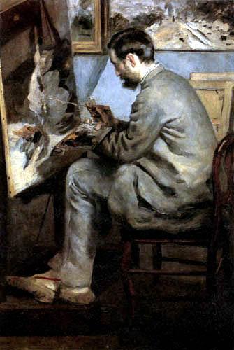 Pierre Auguste Renoir - Frédéric Bazille an seiner Staffelei