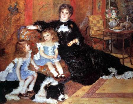 Pierre Auguste Renoir - Madame Charpentier with his children