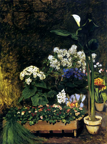Pierre Auguste Renoir - Spring flowers in the greenhouse