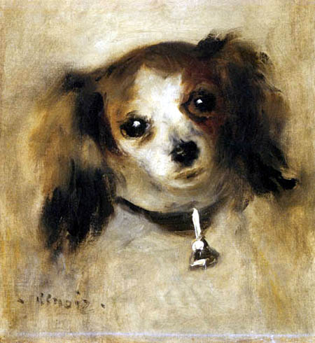 Pierre Auguste Renoir - The head of a dog