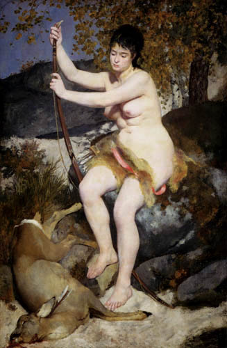 Pierre Auguste Renoir - Diana, Goddess of the hunt