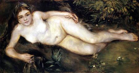 Pierre Auguste Renoir - Nymphe am Bach