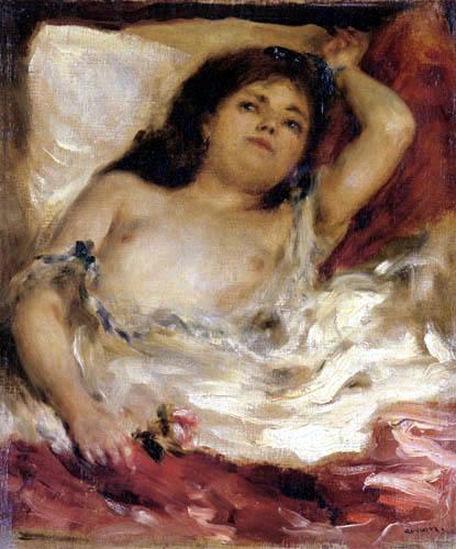 Pierre Auguste Renoir - A Reclining Woman