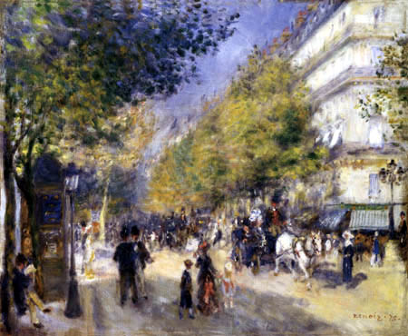 Pierre Auguste Renoir - The boulevards of Paris