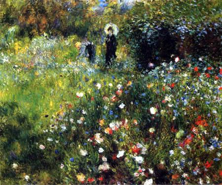 Pierre Auguste Renoir - Frau mit Sonnenschirm