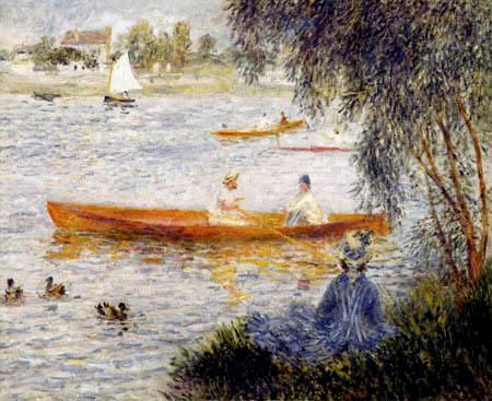 Pierre Auguste Renoir - Kahnfahrer bei Argenteuil