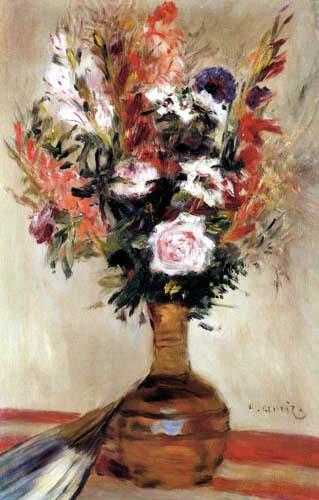 Pierre Auguste Renoir - Roses in a vase