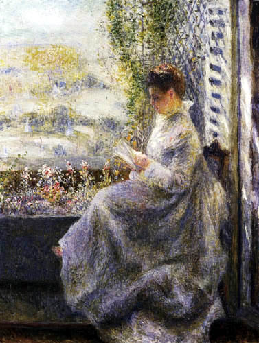 Pierre Auguste Renoir - Madame Chocquet, reading