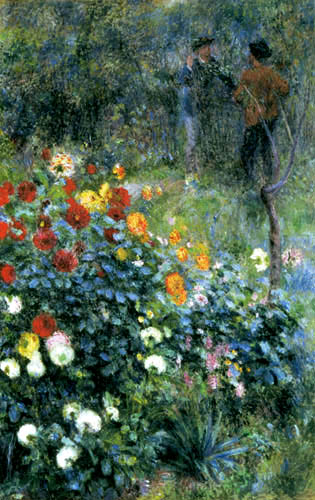 Pierre Auguste Renoir - Le jardin dans le Rue Cortot, Montmartre
