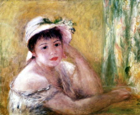 Pierre Auguste Renoir - Woman with straw hat