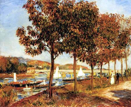 Pierre Auguste Renoir - A bridge of Argenteuil in the autumn