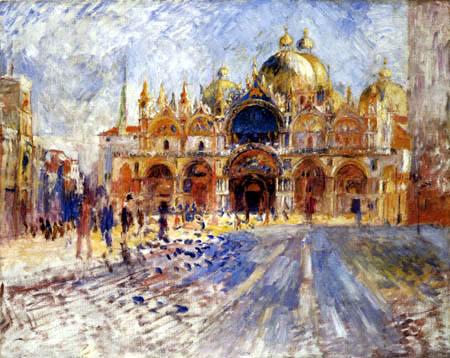 Pierre Auguste Renoir - The Markusplace in Venice
