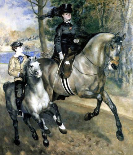 Pierre Auguste Renoir - Reiterin im Bois de Boulogne