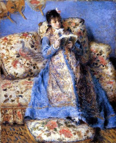 Pierre Auguste Renoir - Camille Monet beim Lesen