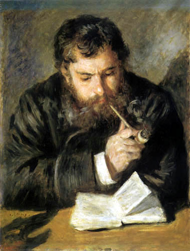 Pierre Auguste Renoir - Claude Monet reading