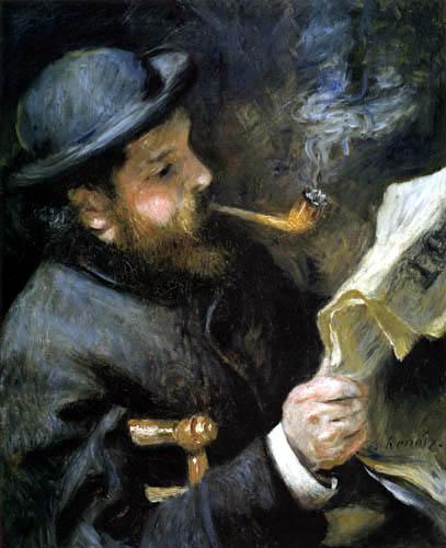 Pierre Auguste Renoir - Claude Monet, Zeitunglesend