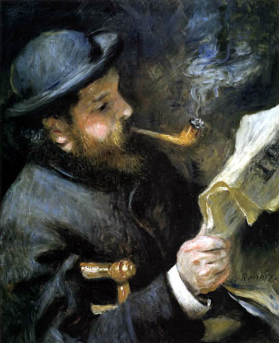 Pierre Auguste Renoir - Claude Monet reading