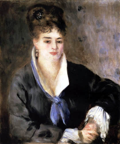 Pierre Auguste Renoir - Lady in the black dress