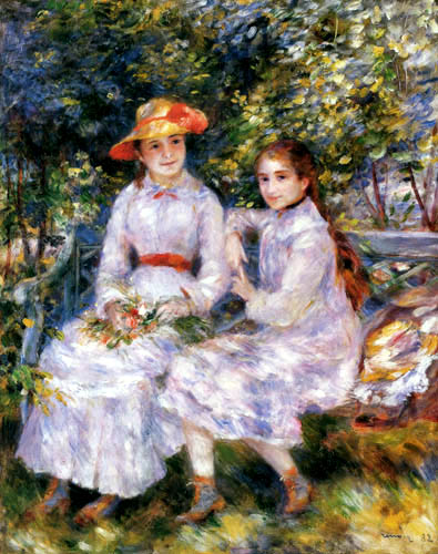Pierre Auguste Renoir - Marie-Thérèse und Jeanne Durand-Ruel