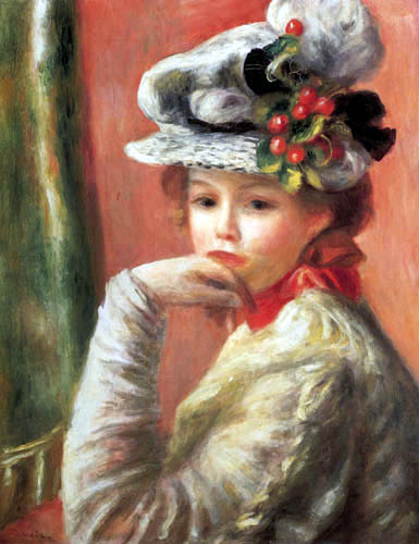 Pierre Auguste Renoir - Girl with a white hut
