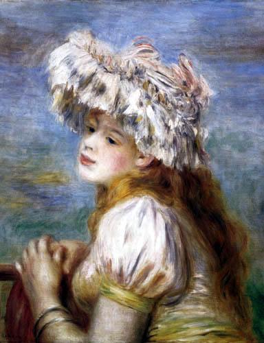 Pierre Auguste Renoir - Mädchen mit Spitzenhut