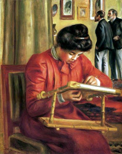 Pierre Auguste Renoir - Christine Lerolle beim Sticken