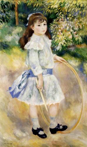 Pierre Auguste Renoir - Mädchen mit Reifen