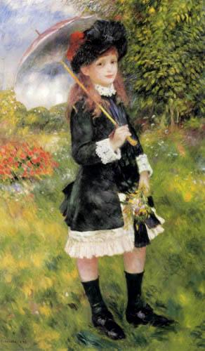 Pierre Auguste Renoir - Girl with sun shade