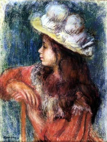 Pierre Auguste Renoir - Fille avec chapeau blanc