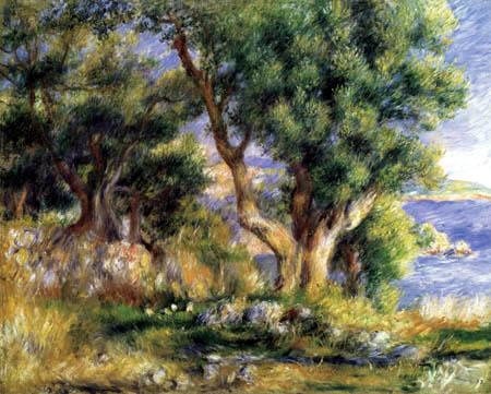 Pierre Auguste Renoir - Landschaft bei Menton