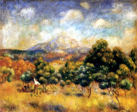Pierre Auguste Renoir - Montagne Saint-Victoire