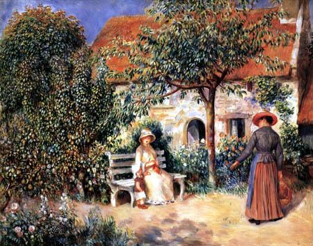 Pierre Auguste Renoir - Gartenszene