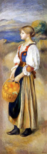 Pierre Auguste Renoir - Mädchen mit Orangenkorb