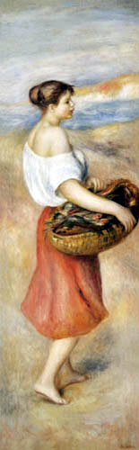 Pierre Auguste Renoir - A girl with fish basket