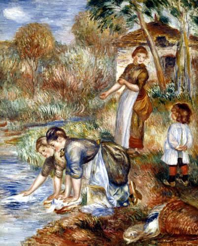 Pierre Auguste Renoir - Die Wäscherinnen