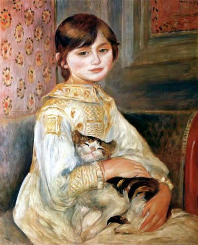Pierre Auguste Renoir - Julie Manet with cat