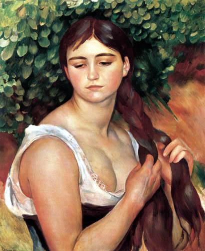 Pierre Auguste Renoir - Suzanne Valadon flicht ihr Haar