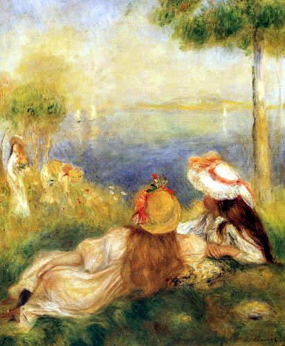 Pierre Auguste Renoir - Mädchen an der Küste