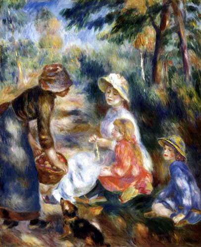 Pierre Auguste Renoir - Die Apfelverkäuferin