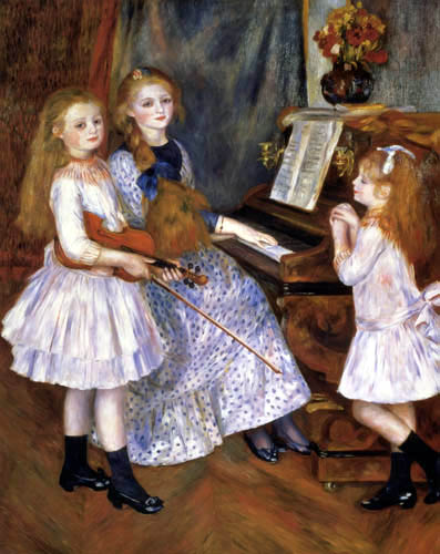 Pierre Auguste Renoir - The daughters of Catulle Mendès