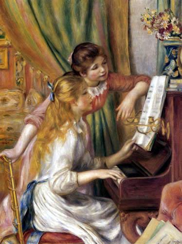 Pierre Auguste Renoir - Two girls