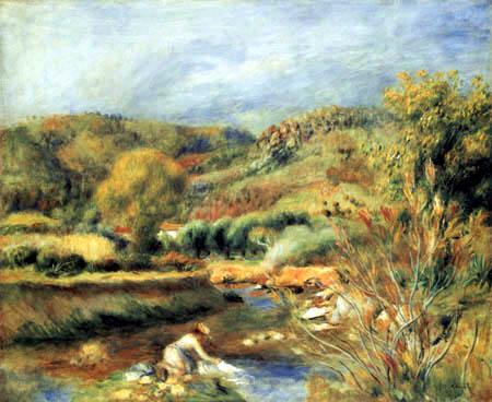 Pierre Auguste Renoir - Die Wäscherin