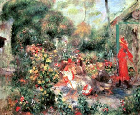 Pierre Auguste Renoir - Girl in a garden, Montmartre