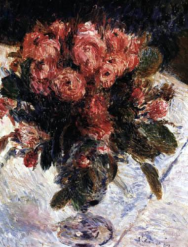 Pierre Auguste Renoir - Rosen in einer Vase